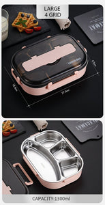 Lunch Box With Compartment Tableware Microwave Food Container Box