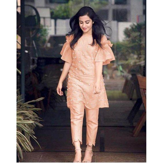 Most Stylish Bell Sleeve Kurti With Pant