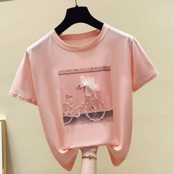 New Hot Best Selling 2020  Fashion Cool Print Female Summer T-shirt