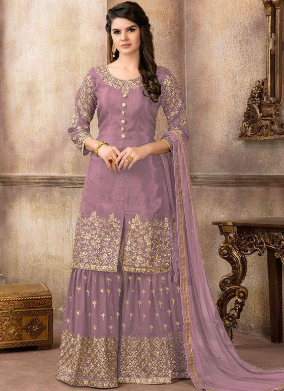 Purple Zari Wedding Designer Pakistani Suit
