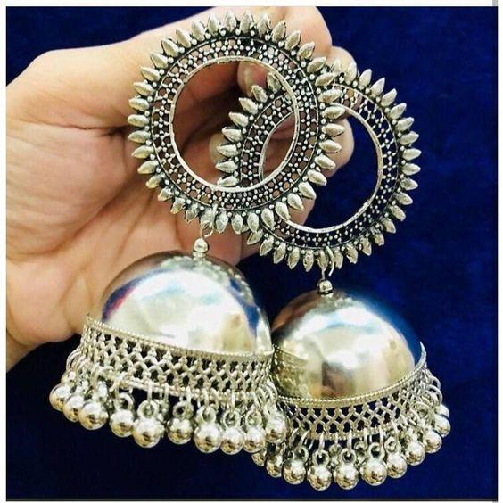 Traditional Sun Shape Jhumka Earrings For Women And Girls