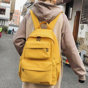 Waterproof Nylon Backpack for Women Multi Pocket