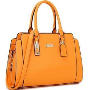 Women's Faux Leather Medium Satchel Handbag