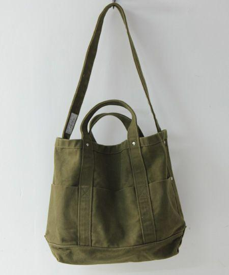 army green tote & hand bag