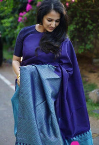 blue shead silk saree