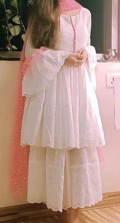 Cotton WHITE SALWAR SUIT