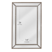 Champagne Silver Metro Beaded Glass Framed Vanity Mirror
