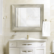 Brushed Nickel Pave Framed Wall Vanity Mirror