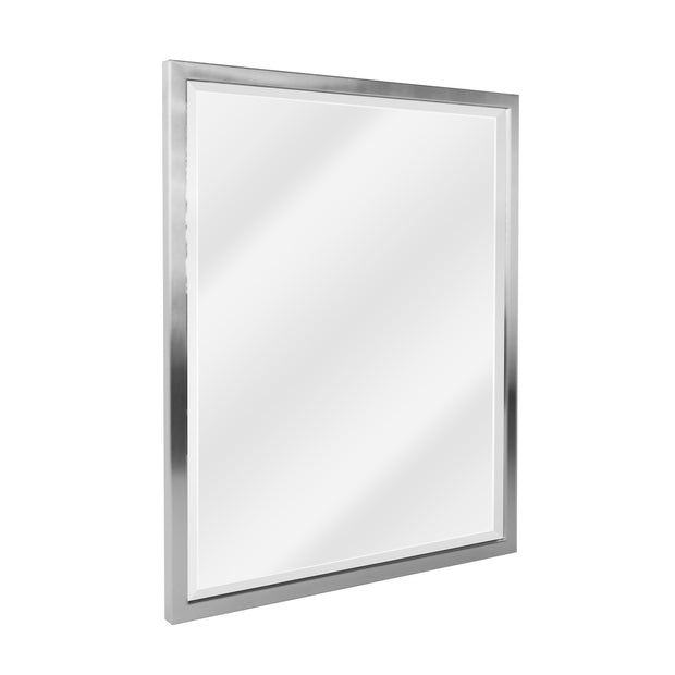 Brushed Nickel Stainless Steel Framed Wall Mirror