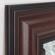 Deep Cherry Rectangular Framed Vanity Mirror
