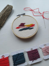 Load image into Gallery viewer, Abstract Embroidered Hoop
