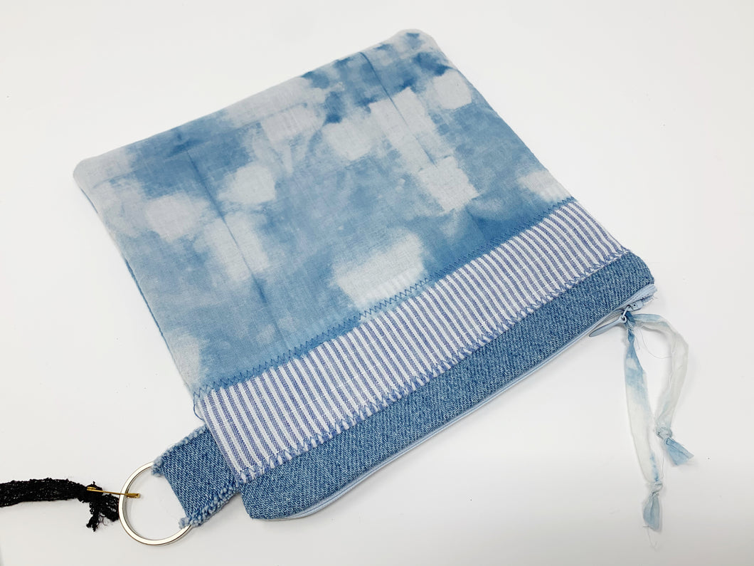 Hand Dyed Hand Stitched Zippered Bag