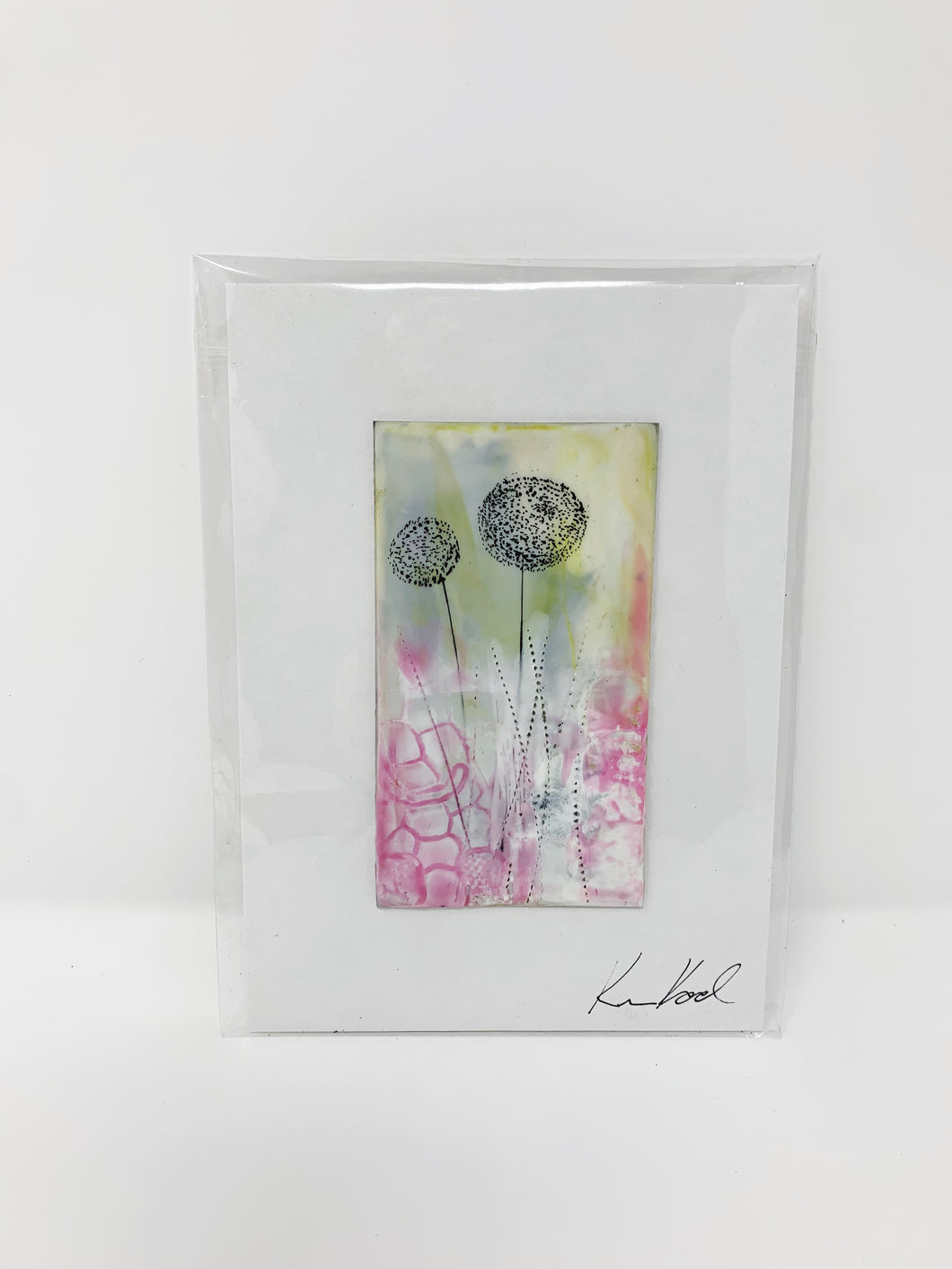 Encaustic Art Card