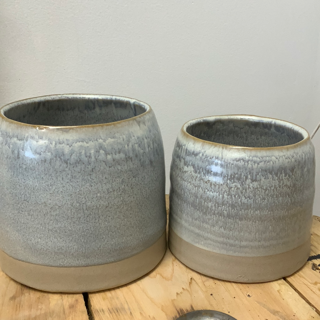 Blue / Grey Bell Pot - Two Sizes