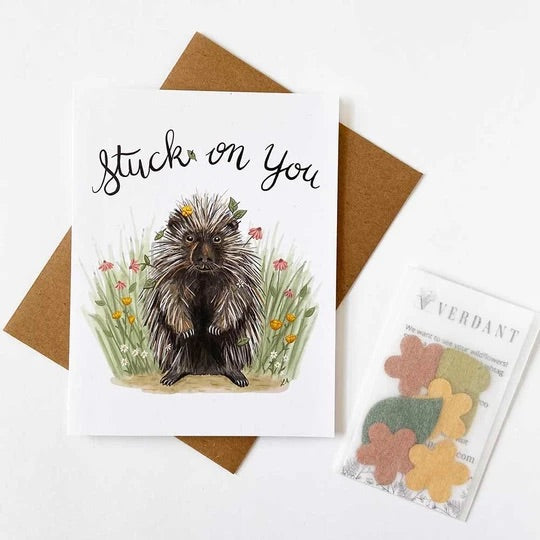 Stuck on You - Greeting Card with Plantable Seed Paper