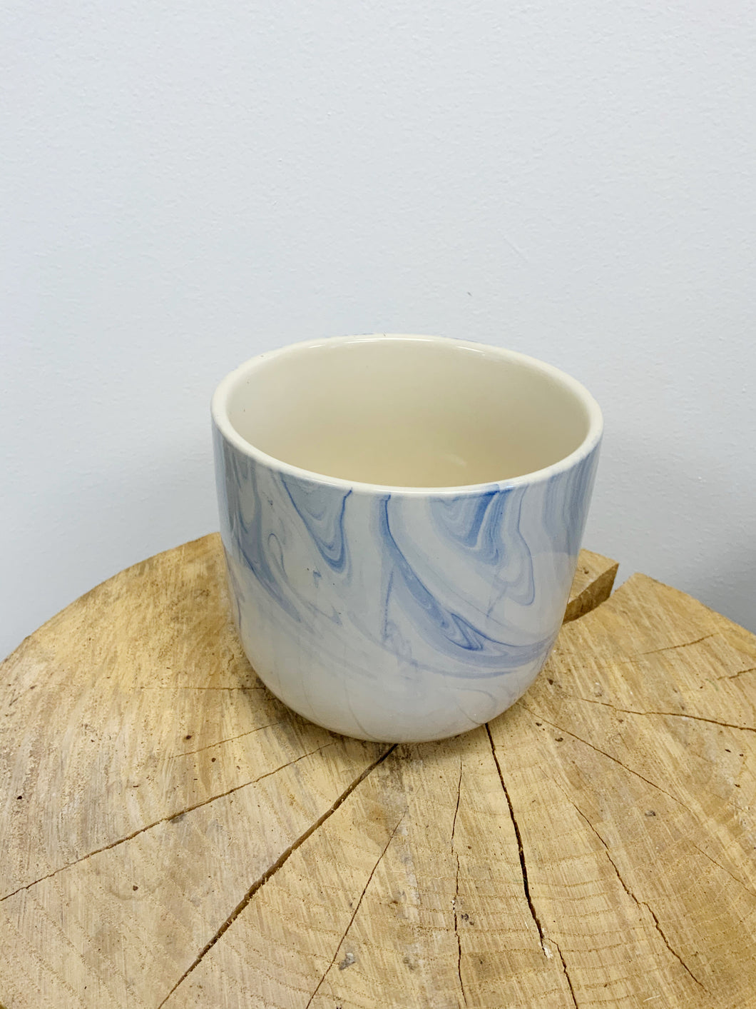 Blue Marbled Pot