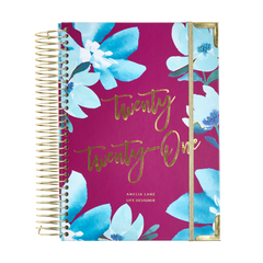 2021 Amelia Lane Life Designer, Signature Weekly (Mulberry Blues)