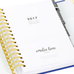 2017 Amelia Lane Life Designer {Signature, Navy Stripes} - UK Edition