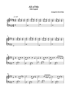 All of Me (John Legend) Piano Sheet Music
