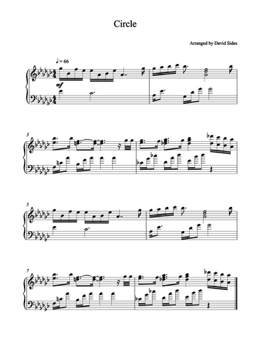Circle (Marques Houston) Piano Sheet Music