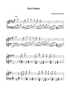 Don't Matter (Akon) Piano Sheet Music