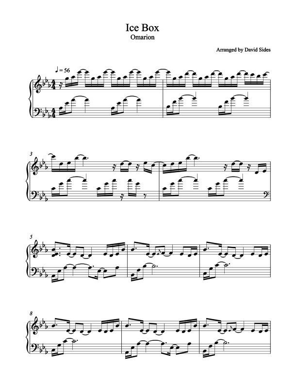 Ice Box (Omarion) Piano Sheet Music