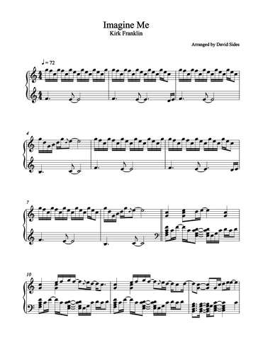 Imagine Me (Kirk Franklin) Piano Sheet Music