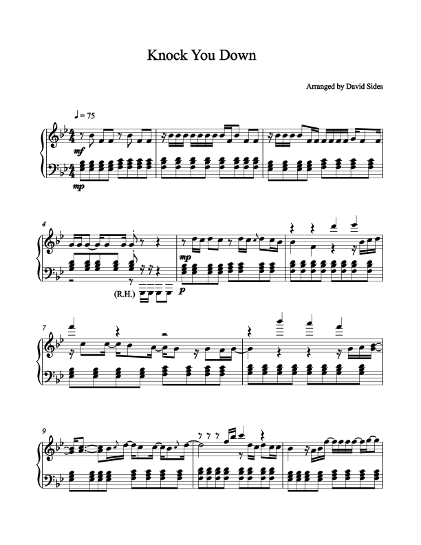 Knock You Down (Keri Hilson ft. Kanye West) Piano Sheet Music
