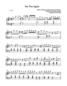 See You Again (Wiz Khalifa ft. Charlie Puth) Piano Sheet Music