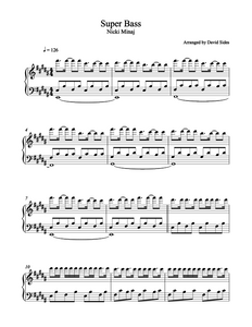 Super Bass (Nicki Minaj) Piano Sheet Music