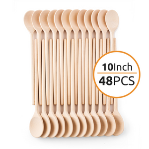 Mr. Woodware - Craft Wooden Spoons Bulk – 10 Inch – Set of 48