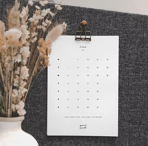 Home Design Calendar & Notebook Gift Set