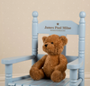Boys Personalised Blue Rocking Chair
