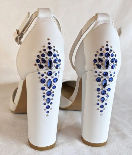 wedding shoes with crystals white Crystal Parade