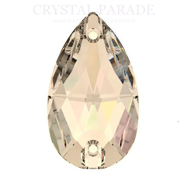 Swarovski Pear Drop 12mm x 7mm Pack of 6 Golden Shadow