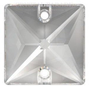 Swarovski 16mm Square Clear Pack of 4