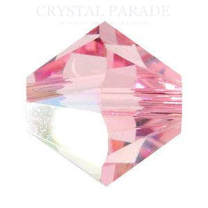 Swarovski 4mm Xilion Beads Light Rose AB - Pack of 1440