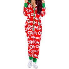 Load image into Gallery viewer, 2020 Christmas Women Pajamas Set Cotton Sleepwear Long Lattice Pants + Xmas Print T-Shirt Pyjamas Women Winter Pijamas