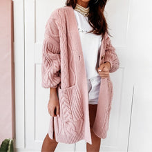 Load image into Gallery viewer, New Casual Knitted Sweaters Cardigan Women Pattern Button Long Batwing Sleeve Boho Crochet Oversized Sweater Coat Women
