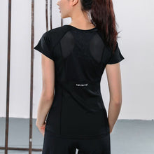 Load image into Gallery viewer, Women Summer T Shirts Slim Fit For Sports Fitness Yoga Short Sleeve Yoga Top Mesh Womens Gym Shirt Sport Wear