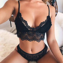 Load image into Gallery viewer, Sexy Women Underwear Bra Sexy Lingerie G-string Thong Nightwear Lace Flower Clothes Set Sleepwear Push Up Two Piece Sets