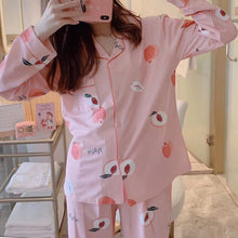 Load image into Gallery viewer, Womens Pajamas Sets Cartoon Print New Autumn Long Sleeve Two Pieces Set Women Sleepwear Sexy Nightwear for Women Sleeping Set