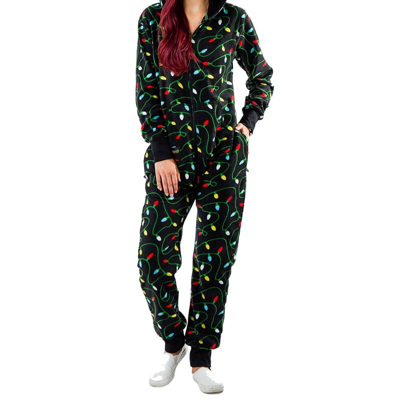 2020 Christmas Women Pajamas Set Cotton Sleepwear Long Lattice Pants + Xmas Print T-Shirt Pyjamas Women Winter Pijamas