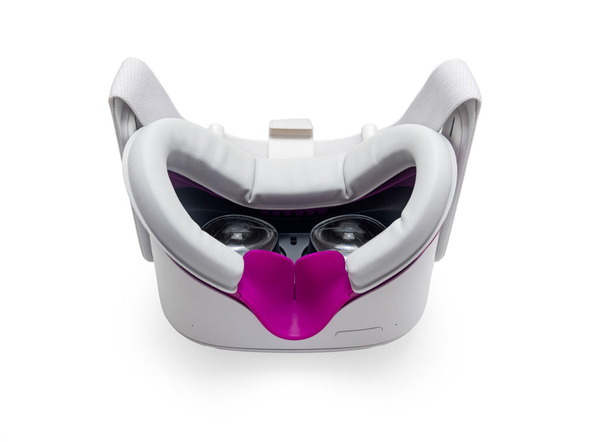 Facial Interface & Foam Replacement Set for Oculus™ Quest 2 (Magenta & Light Grey)
