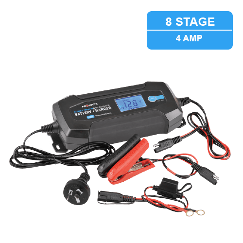 Projecta Charge and Maintain 240Volt Battery Charger 4Amp 6v / 12v - Home of 12 Volt Online