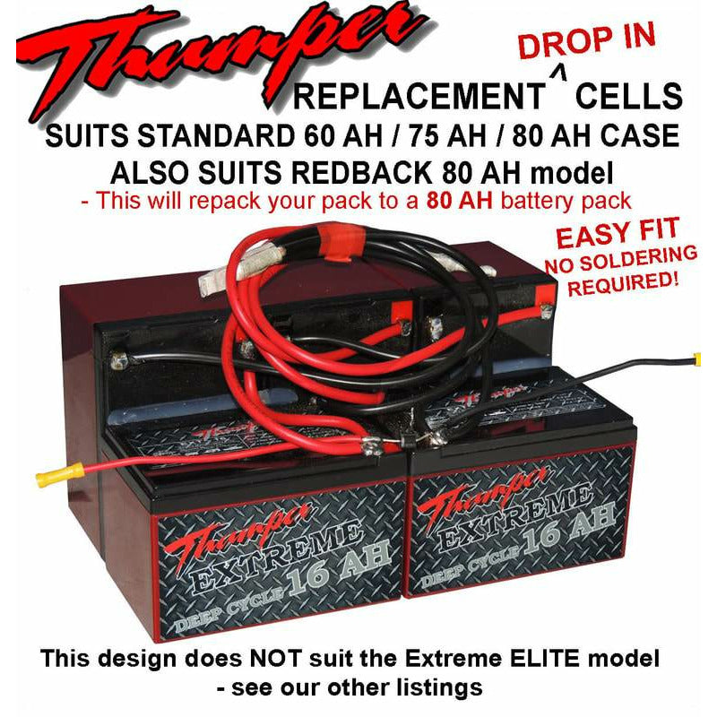 Thumper replacement batteries to suit 80 AH (DIP-80) - Home of 12 Volt Online