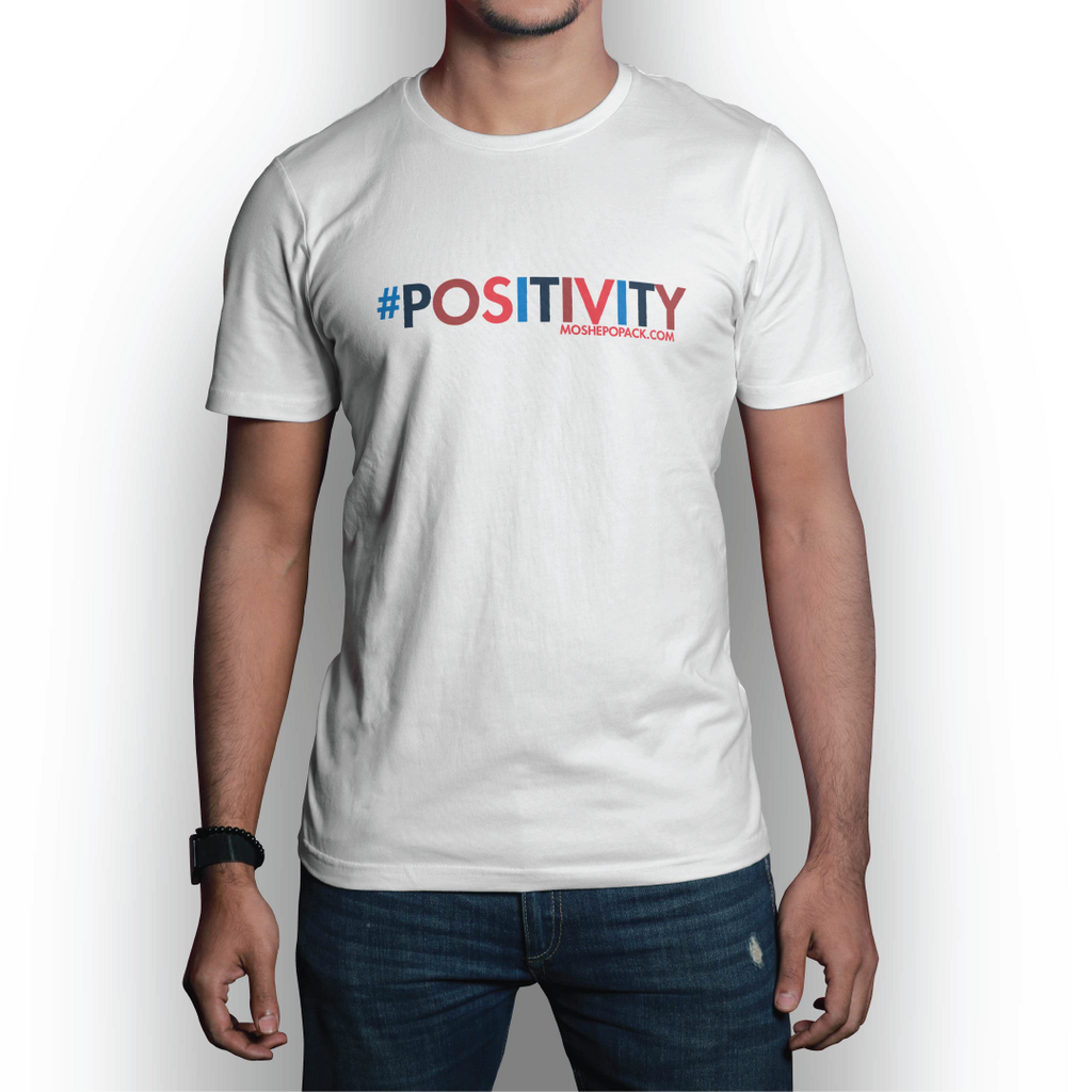 #POSITIVITY Large Logo White T-Shirt