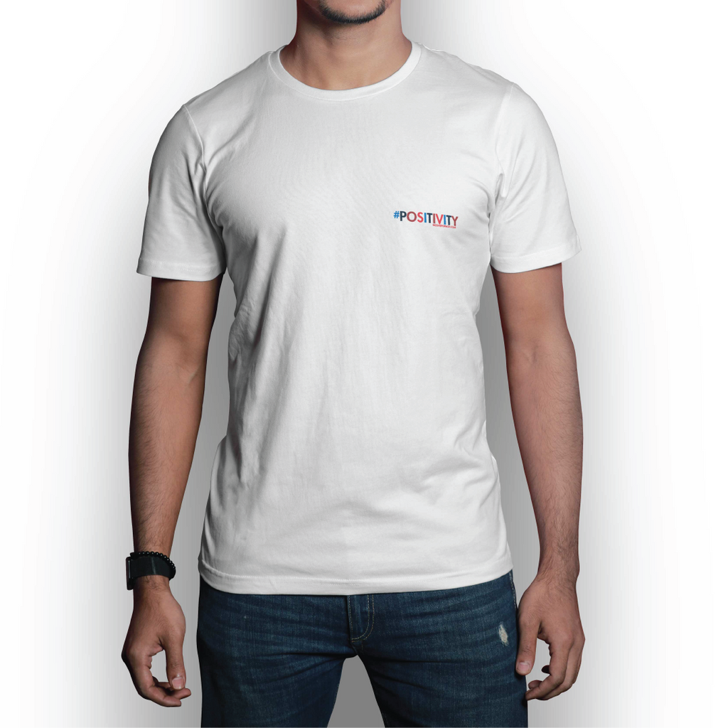 #POSITIVITY Small Logo White T-Shirt