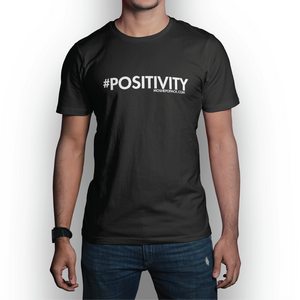 #POSITIVITY Large Logo Black T-Shirt