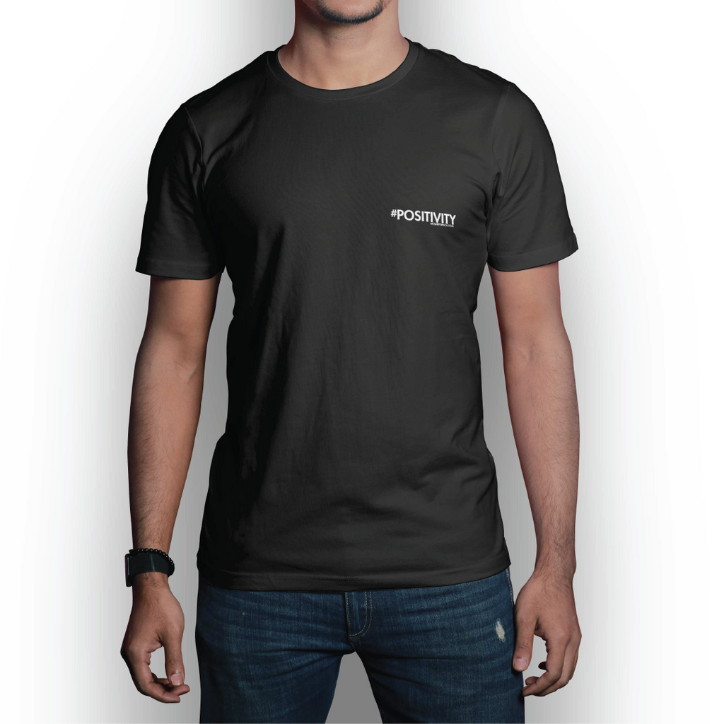 #POSITIVITY Small Logo Black T-Shirt